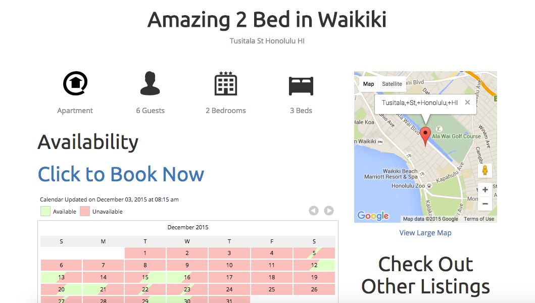 Waikiki Condo Beach Rental 2 bedroom 1.5 baths 5 minutes from beach