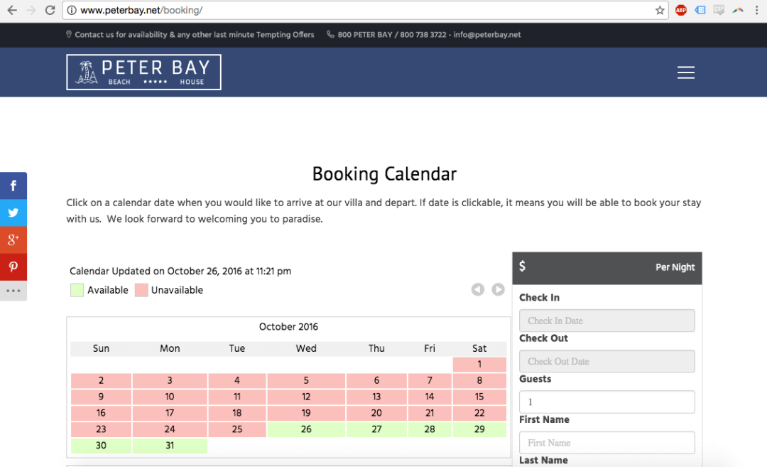 Peterbay.net VR Calendar